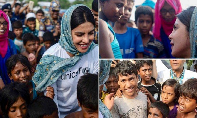 Priyanka calls for world's attention on Rohingya children