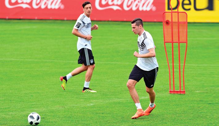 German national football team midfielders Mesut Ozil