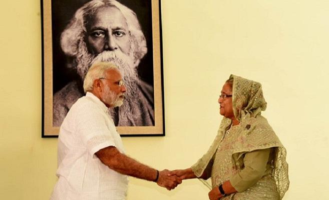 Hasina, Modi discuss bilateral issues