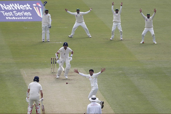 Pakistan bowls out England for 184 in first Test at Lord's
