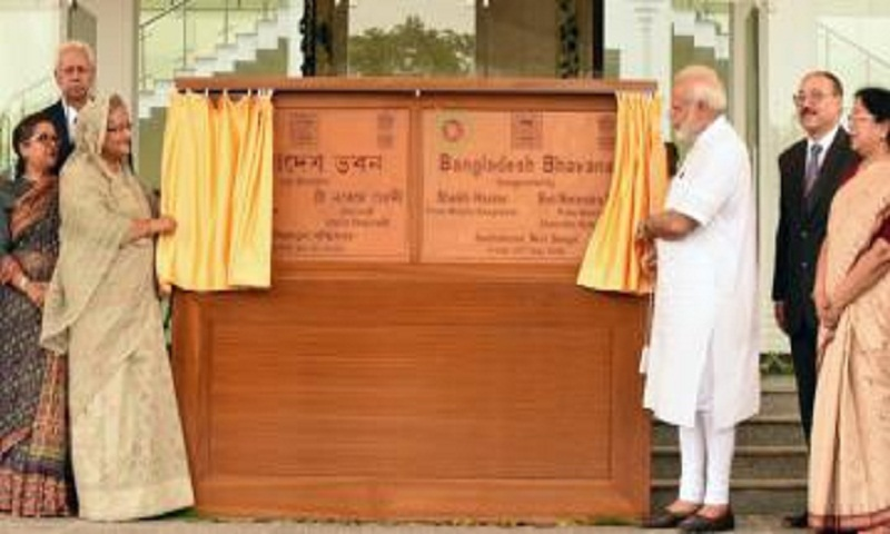 PM Hasina, Indian PM Modi inaugurate 'Bangladesh Bhaban'