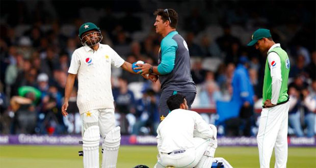 Babar Azam out of England series with broken arm