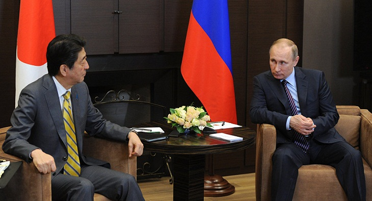 Putin and Abe discuss peace treaty over Kuril islands