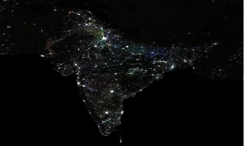 Inequality in India can be seen from outer space