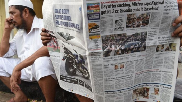 The story barely reported by Indian media