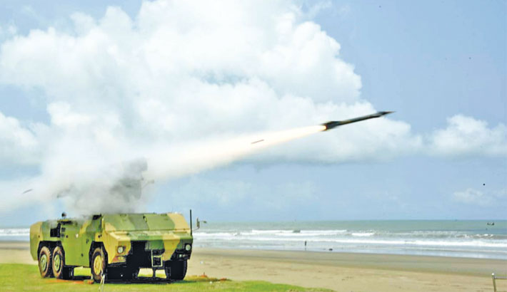 BAF holds successful air missile exercise in Cox's Bazar