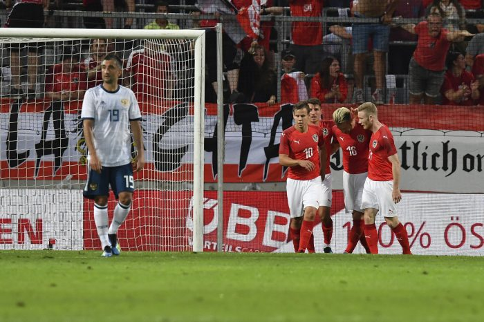 Russia slumps to 1-0 defeat in Austria for 3rd straight loss