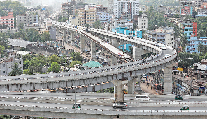 A loop of  Akhtaruzzaman  Flyover opens  to traffic