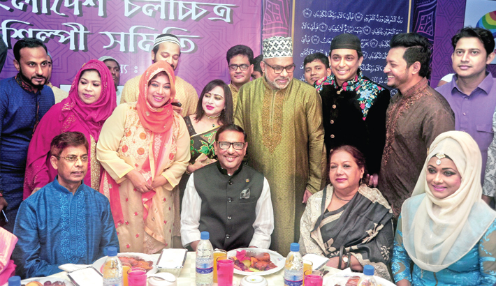 Obaidul Quader attends an iftar party