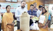 Deputy Commissioner of Narail Emdadul Haque Chowdhury distributes new clothes
