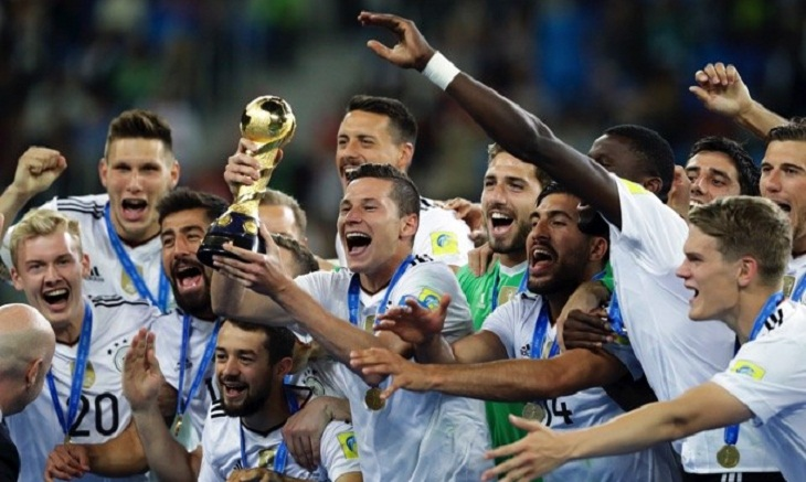 Germany go to World Cup atop FIFA rankings
