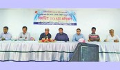 Guests attend a workshop on 'eco-toilet and sustainable sanitation management
