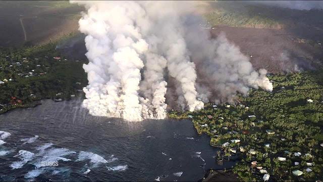 Hawaii volcano lava vaporises largest freshwater lake