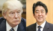 Trump hosts Abe, five days before summit with Kim