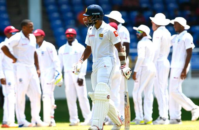Sri Lanka's batters struggle as West Indies build big lead