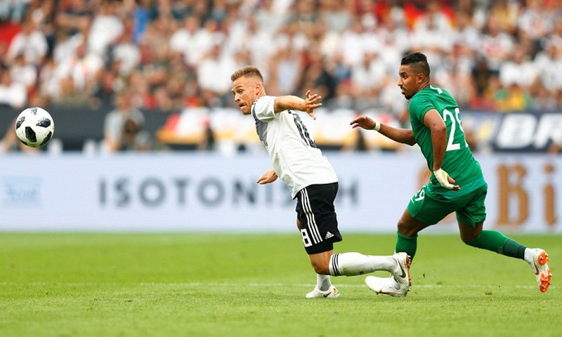 Germany beat Saudi Arabia 2-1 in World Cup warmup