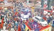 Eid shoppers crowd  Bashundhara City
