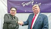 Trump, Kim lookalikes hold 'summit' in S'pore