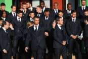 Cristiano Ronaldo's Portugal arrive in Russia for World Cup