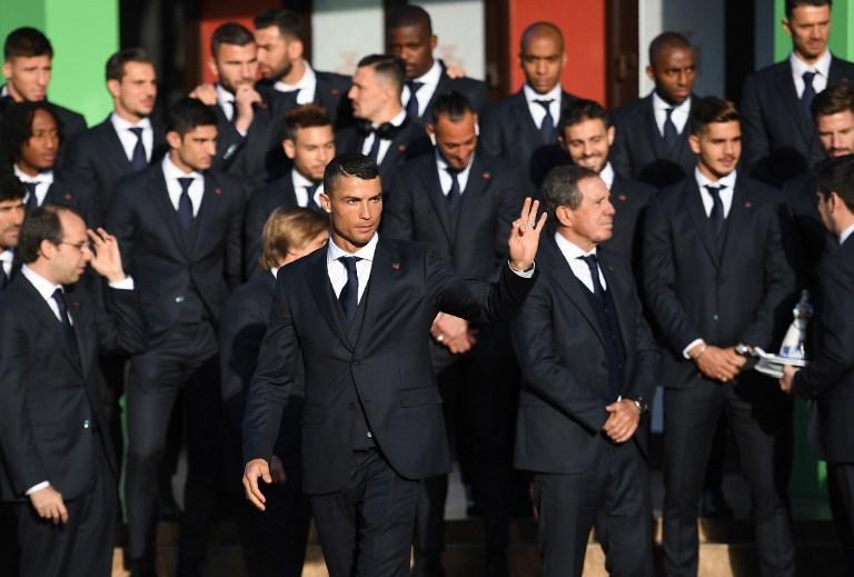 Cristiano Ronaldo's Portugal arrive in Russia for World Cup