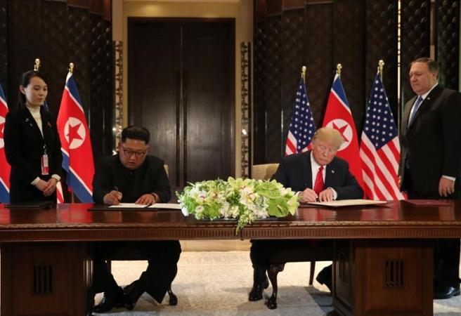 Trump, Kim Jong-un sign