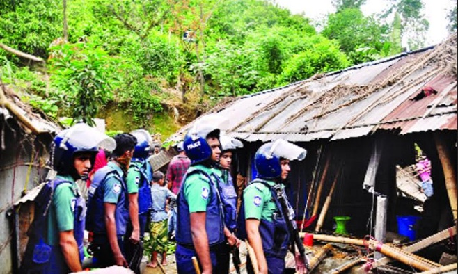 Eviction drive continues in Chattogram hills