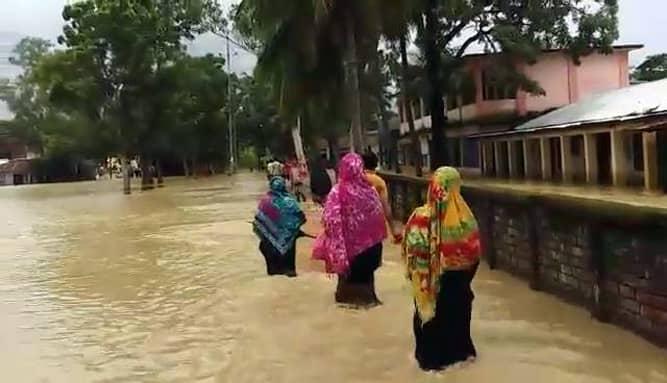 Rain, onrush of hill water inundate 14 Rangamati villages