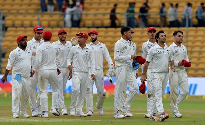 Afghanistan hit back after Dhawan ton in debut Test, Ind 347 for 6