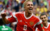 Russia's Iury Gazinsky scores first goal of 2018 World Cup