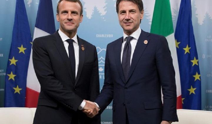 Migrant tensions on the menu as Macron meets Italian leader