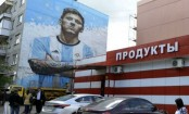 Messi illuminating a small Russian town