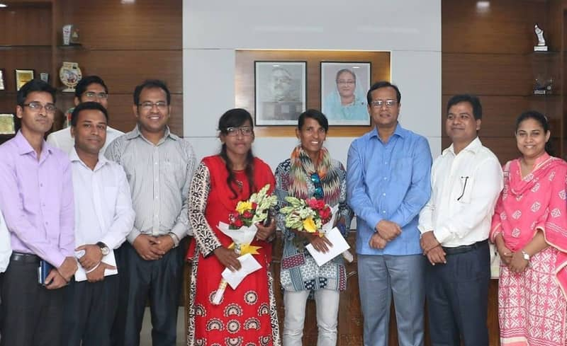 Salma, Rumana accorded reception in Khulna