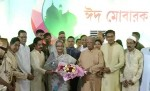 Prime Minister Sheikh Hasina exchanges Eid greetings at Ganabhaban
