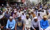 Non-government teachers continue rally on Eid day demanding MPO