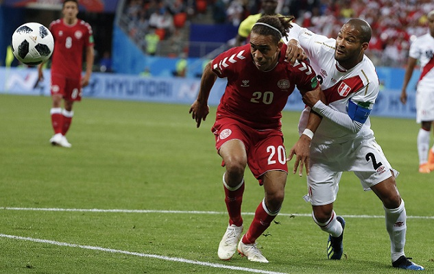 Denmark beat Peru 1-0 in World Cup