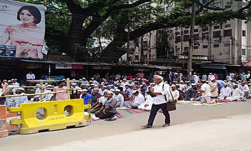 Non-MPO teachers, employees begin indefinite sit-in