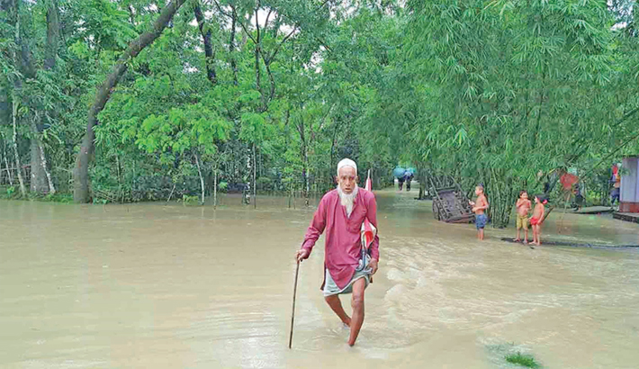 Floodwater enters Moulvibazar town