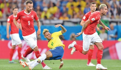 Brazil suffer first night nerves in Swiss tie