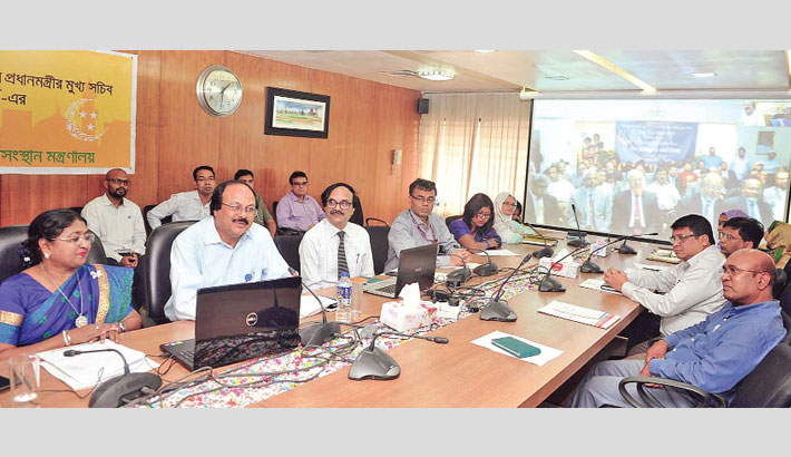 Eid greetings with expatriates through a video conference