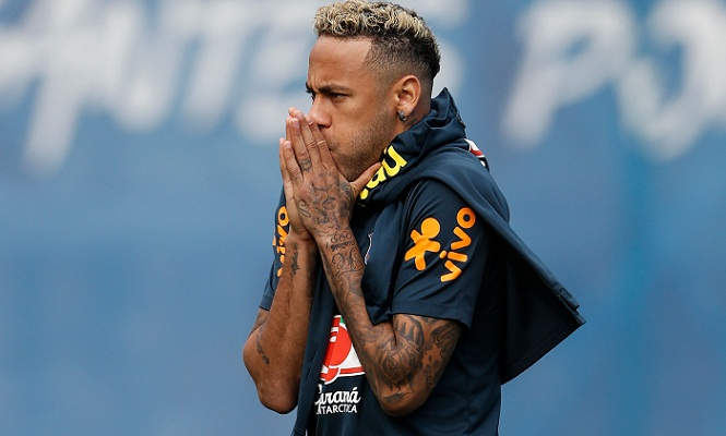 Neymar back training ahead of Costa Rica game