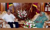 PM Sheikh Hasina calls on President Abdul Hamid