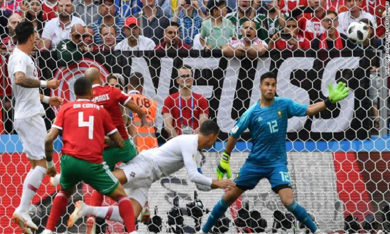 Portugal 1-0 Morocco: World Cup 2018