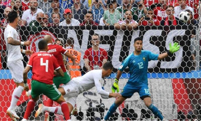 Portugal 1-0 Morocco: World Cup 2018