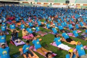 Thousands join Yoga Day celebrations in city