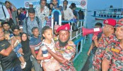 Eid returnees happy  over services provided  by firefighters