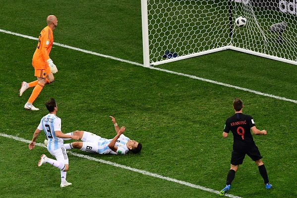 Croatia in to last 16 beating Messi's Argentina by 3-0