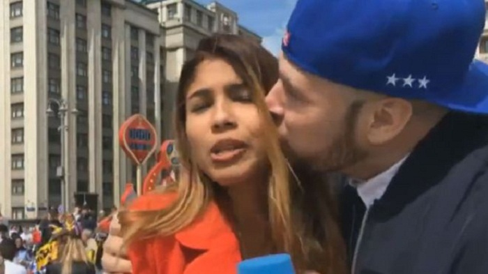 Female reporter groped and kissed on air at World Cup