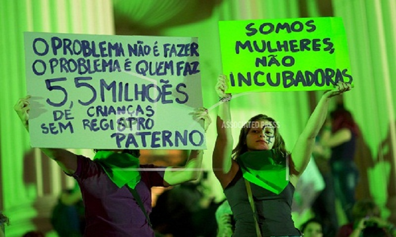 Hundreds of women march in Rio to demand legal abortion