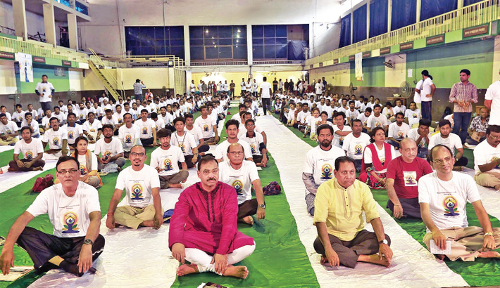 Marking the International Yoga Day