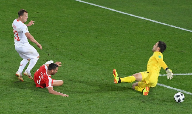 Last gasp Shaqiri seals Swiss 2-1 win over Serbia